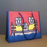 sac de ville en toile de jute sérigraphiée