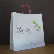 Très jolie sac en papier kraft blanc personnalisable et economique