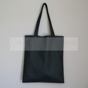 sac publicitaire en beau coton noir épais à personnaliser