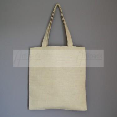 sac shopping personnalisable en toile naturelle épaisse