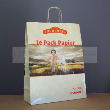 sac publicitaire en papier kraft pelliculé brillant