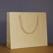 sac luxe kraft brun 32+10x27.5 cm