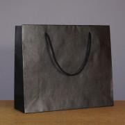 sac luxe noir mat 32+10x27.5 cm