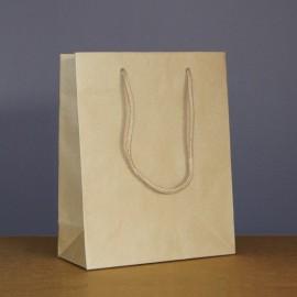 sac luxe kraft brun 22+10x27.5 cm