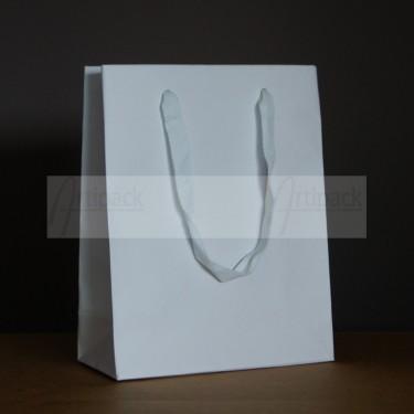 sac cadeau luxe papier kraft blanc