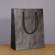 sac luxe noir 22+10x27.5 cm