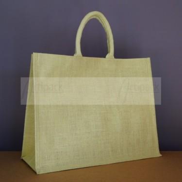 sac de courses en jute vert personnalisable