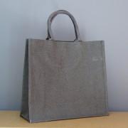 sac en jute brun taupe 34x39x15 cm