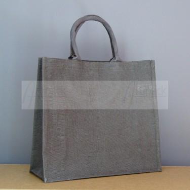 sac en toile de jute marron chocolat à imprimer