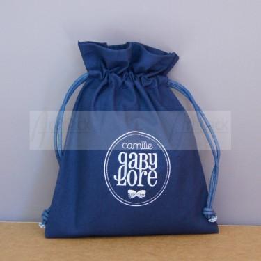 Bourse en toile coton personnalisée pour produits cosmétiques