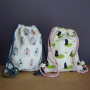 Petits sacs à dos en tissu