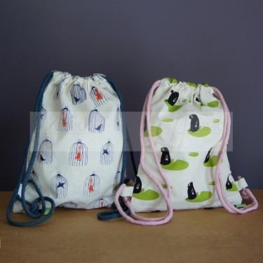 Petits sacs à dos en tissu pour goûter ou doudou