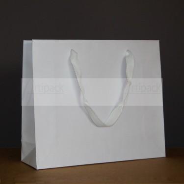 sac cadeau luxe en kraft blanc mat