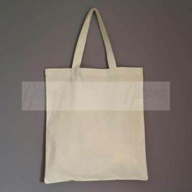 sac shopping en coton personnalisable avec anses moyennes