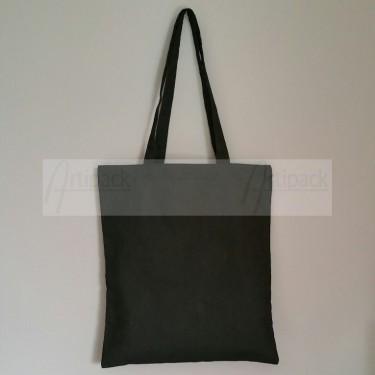 tote bag coton noir personnalisable