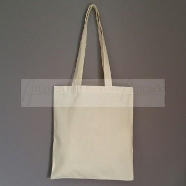 petit sac shopping en coton écru à sérigraphier