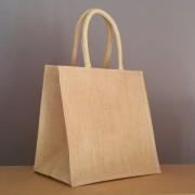 petit sac en jute naturel 30x30x20 cm