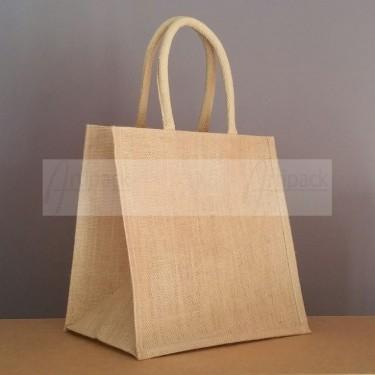 petit sac cabas en jute naturel 30x30x20 cm