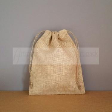 petit sac en jute 25x20 cm à personnaliser
