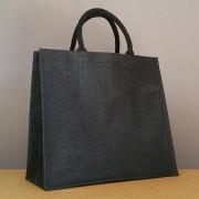 sac en jute noir 34x39x15 cm