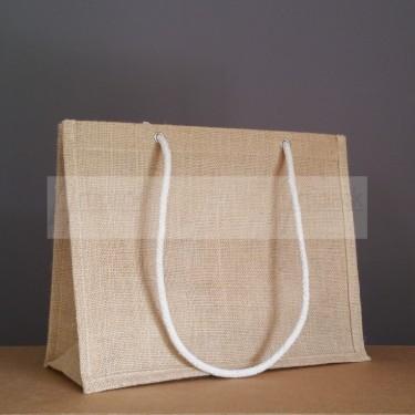 sac en jute naturel avec cordelettes épaule écrues