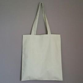 sac en coton gris clair 150 g 40x36 cm