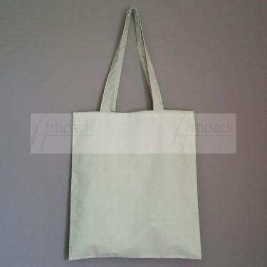 sac shopping en tissu coton gris clair