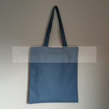 tote bag bleu marine personnalisable