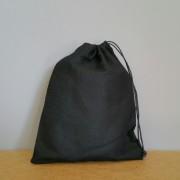 Pochon moyen en coton noir 25x20 cm