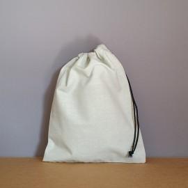 Pochon moyen en coton gris 25x20 cm