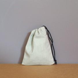 Mini pochon en coton gris 12x9 cm