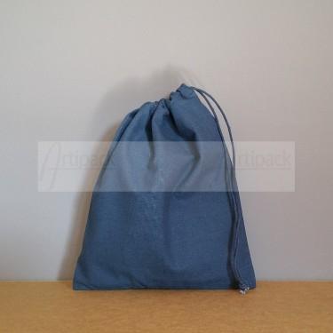 Pochon en coton bleu marine personnalisable
