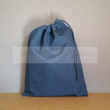 Grand pochon en coton bleu marine à personnaliser