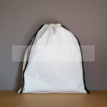 Grand pochon en coton blanc à personnaliser