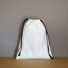 Pochon moyen en coton blanc 25x20 cm
