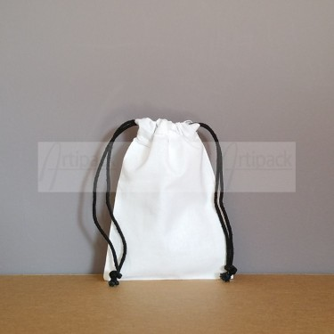 Petite pochette en coton blanc neutre ou à personnaliser