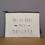 Trousse ou pochette en coton personnalisée