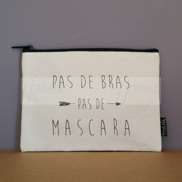 Trousse zippée en toile coton personnalisée