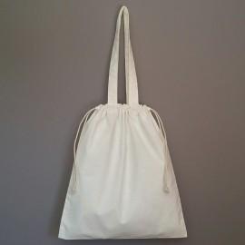 sac shopping et pochon en coton prélavé 40x35 cm