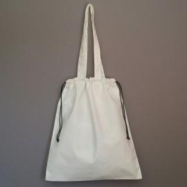 sac tote bag et pochon en coton prélavé 40x35 cm