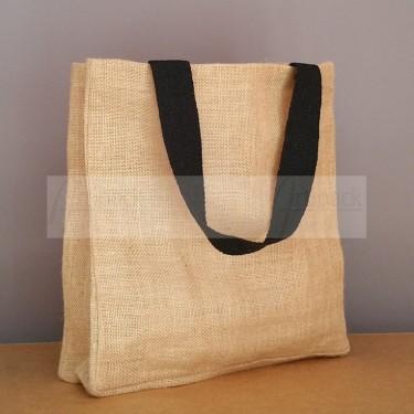 petit sac cabas en toile de jute souple à personnaliser