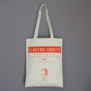 sac shopping en toile coton imprimée