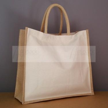 sac cabas toile coton et jute personnalisable