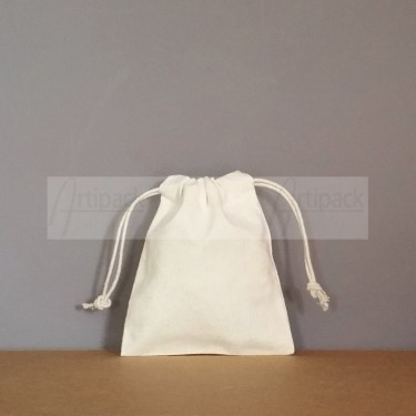 Petite pochette tissu écru personnalisable
