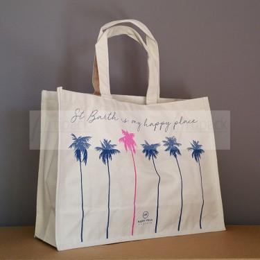 sac de plage personnalisé en toile coton