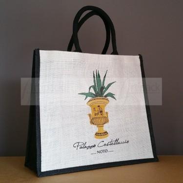 sac cabas en jute personnalisé pour hôtel