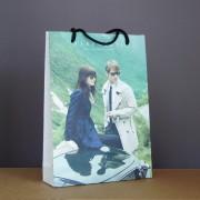 sac papier luxe quadri